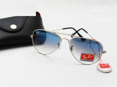 Ray Ban Gents Shades Silver Sunglass Replica SW4050