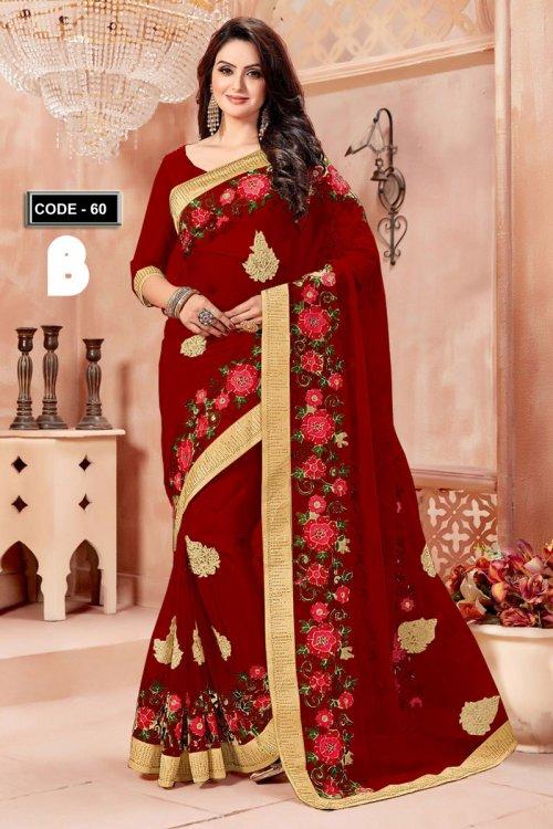 Weight Less Georgette saree Hp-60_B