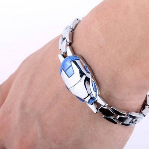 Iron Man Mask Silver Bracelet