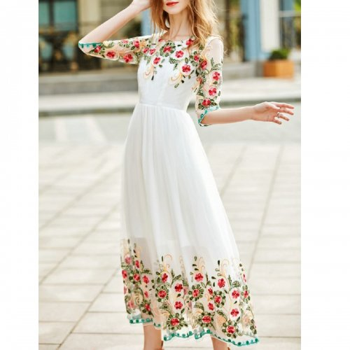 white-gauze-flowers-embroidered-dress