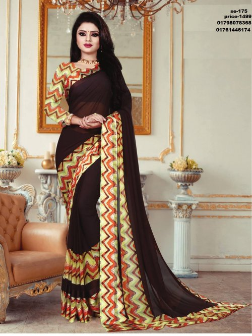 Indian Soft Georgette Saree se-175