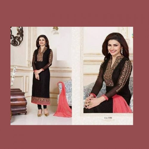 Unstitched Cotton Block Printed Salowar Kameez seblock-337