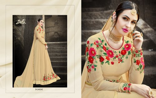 Exclusive Georgette Designed Embroidery Long Salwar Suit