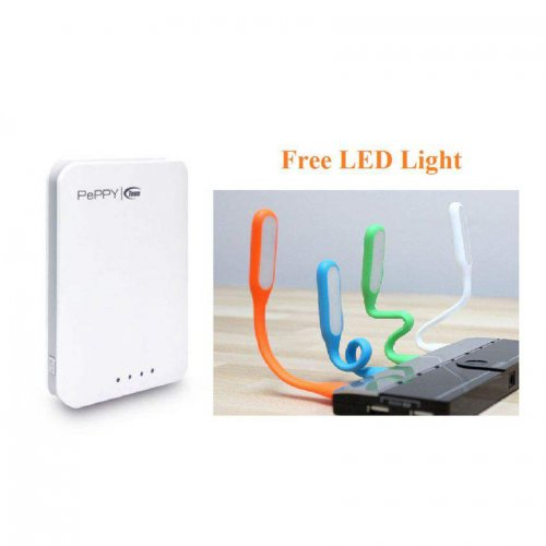 Combo Of Team Peppy Wp04 10400 mAh Power Bank With Fee LED Light