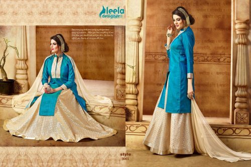 sky blue un-stitched Scart model salwar kameez suit