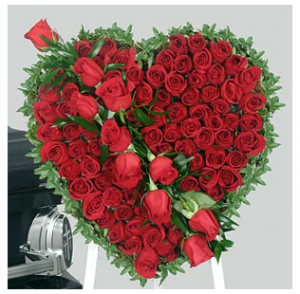 Big Rose Heart Shape Valentine Flower Arrangements Online Shopping