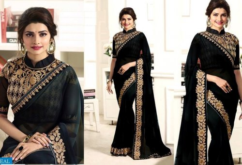 Weight Less Georgette saree SS-484