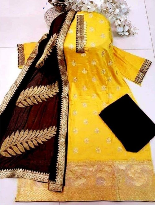 Unstitched Block printed Salwar kameez 777