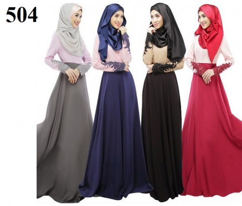 Fashionable muslim dress islamic clothing Rabaah Abaya Burka borka 504