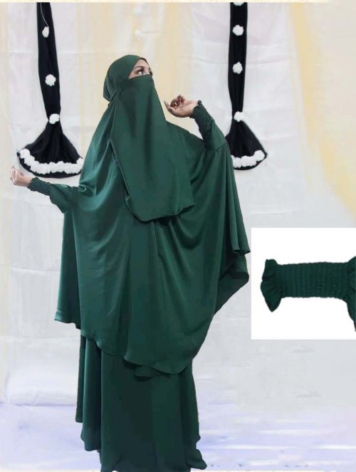 Khimar adjusted niqab with skirt borkha full set for women pv-15