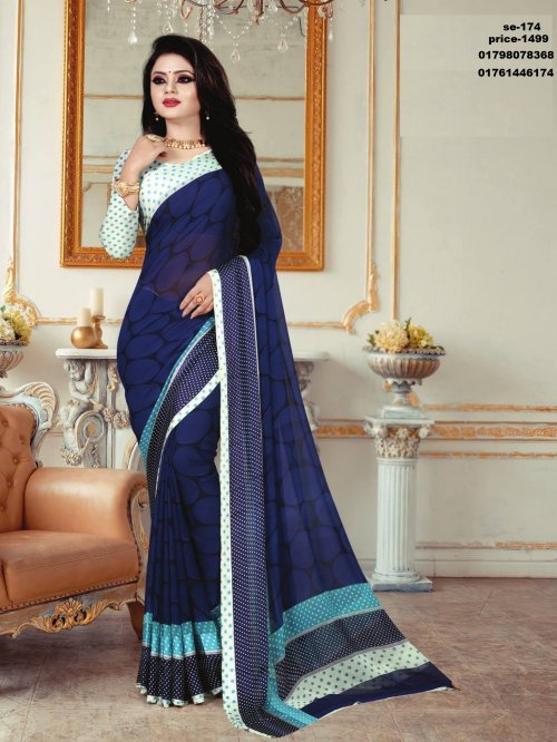 Indian Soft Georgette Saree se-174
