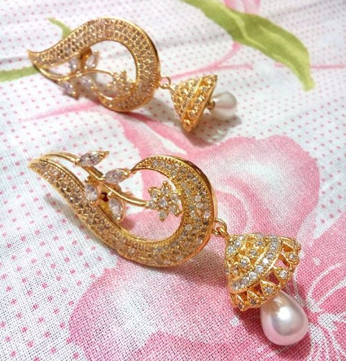 Gold Plated jewelry ornaments Diamond Cut Earrings E-20057