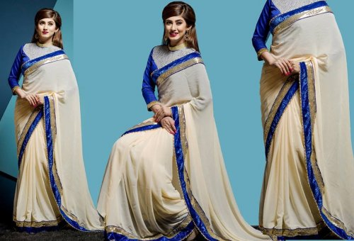 Weight Less Georgette saree SS-163