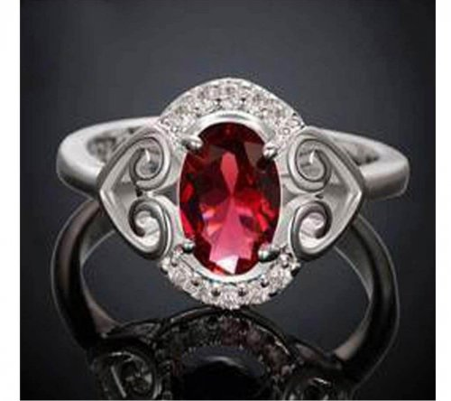 ladies pink stone ring 2