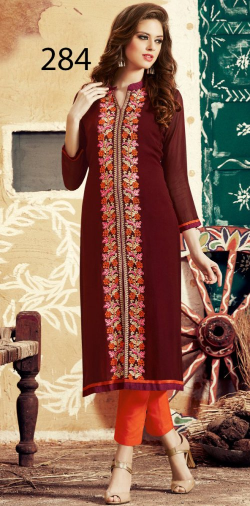 Latest Designers Kurti party wear ladies salwar suits 284