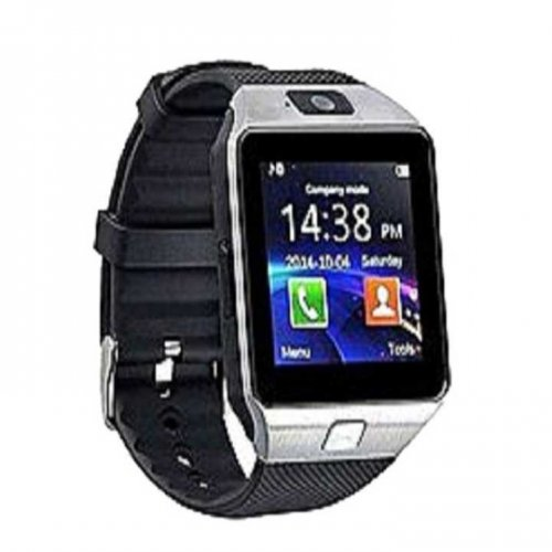 DZ09 Sim Supported Smart Watch Mobile - Silver