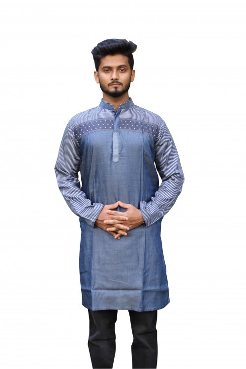 Boisakhi Denim Punjabi for man BASE_14