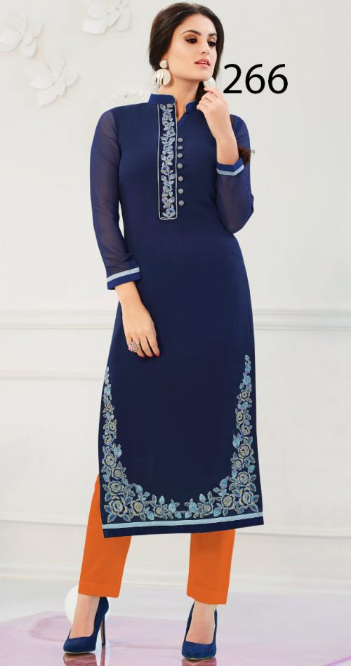 Latest Designers Kurti party wear ladies salwar suits 266