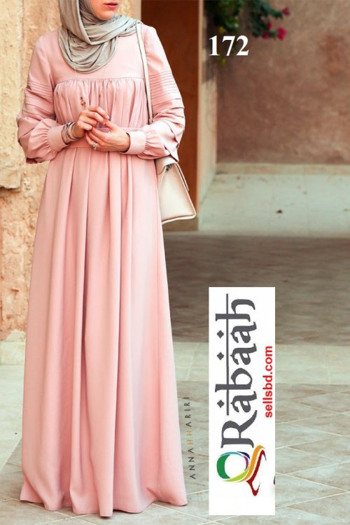 Fashionable muslim dress islamic clothing Rabaah Abaya Burka borka 172