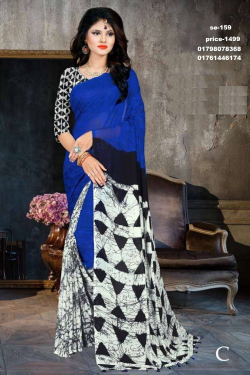 Indian Soft Georgette saree se-159