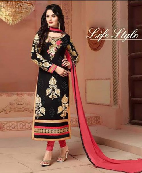 Unstitched Cotton Block Printed Salowar Kameez ES304