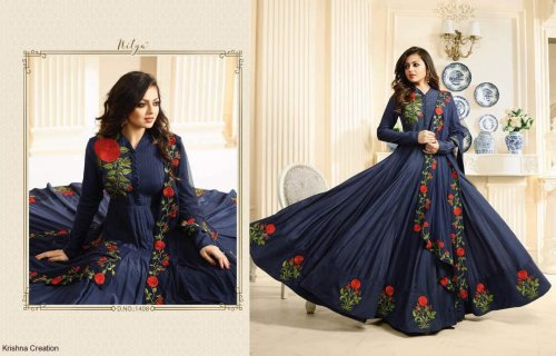 royal blue Nitya Anarkali Suit nitya-1408