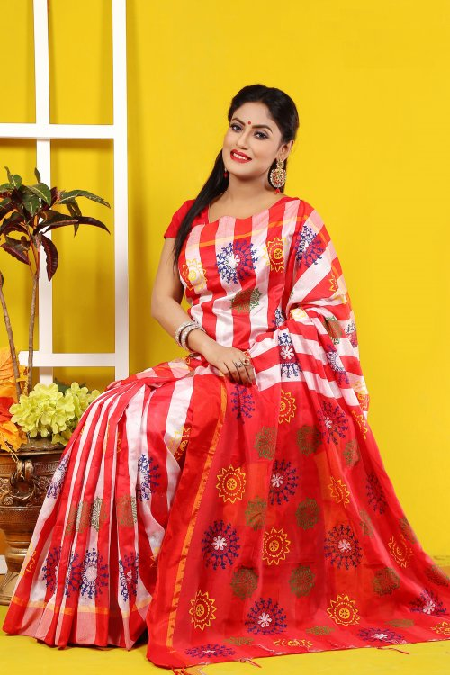 Silk Butics Saree for Woman