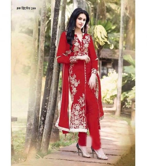 unstiched block printed cotton replica three pcs salwar kameez seblock-299