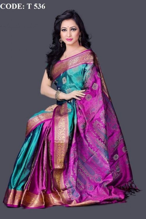 Pure Soft Silk Saree t536