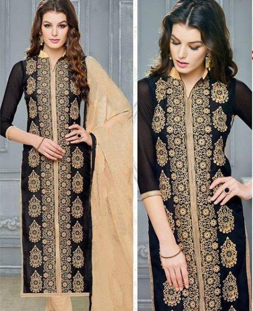 Embroidered salwar kameez S-384