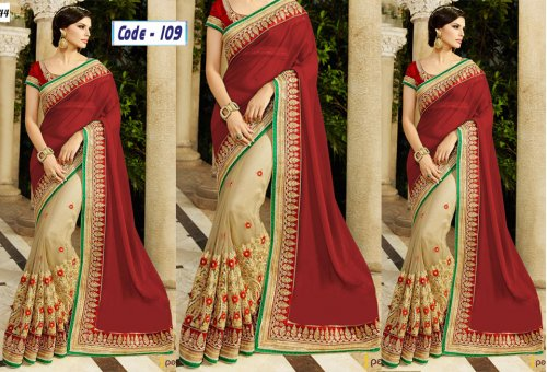 Weight Less Georgette saree Hp-109