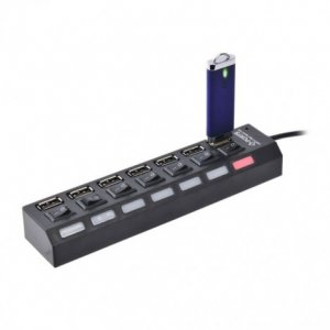 7-Ports USB HUB with Individual On/Off Switches