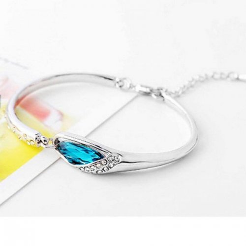 Silver Crystal Bracelet for Women