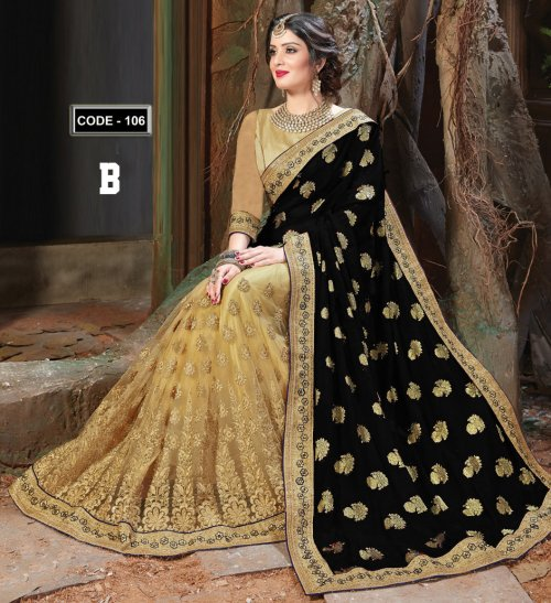 Weight Less Georgette saree Hp-106_B