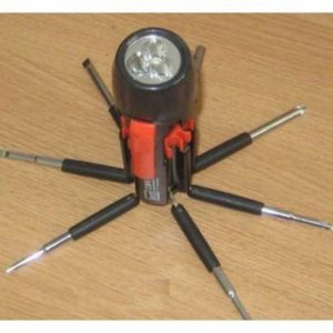 8 in 1 Multi Purpose Screw Driver with Torch Light