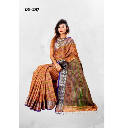 Cotton Tat saree bois-237