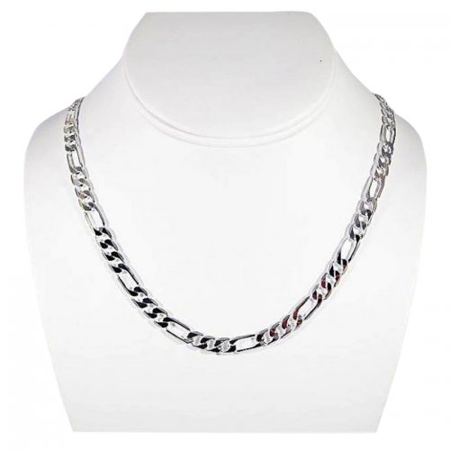 White Plated Men's Chain