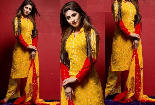 Embroidered salwar kameez S-164