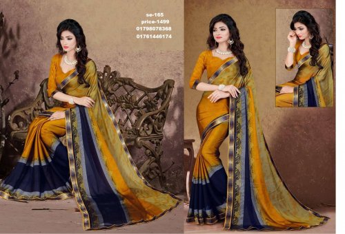 Indian Soft Georgette Saree se-165