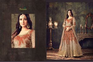 Maisha maskeen 4705 un-stitched georgette embroidery anarkali suit