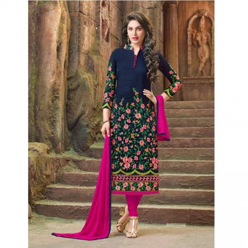 Embroidered salwar kameez S-373