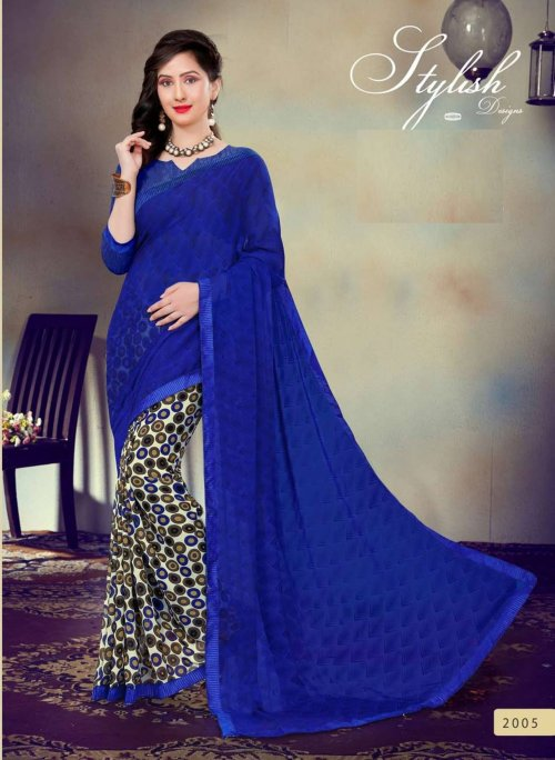Indian Soft chiffon Saree se-503