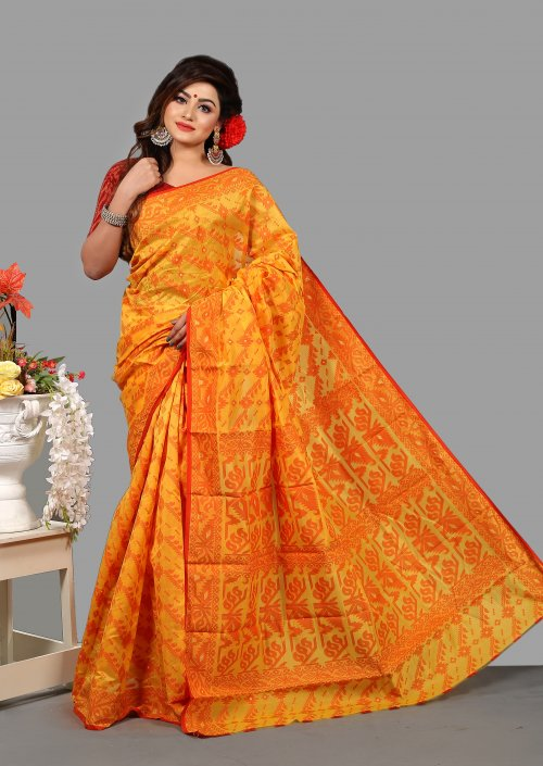 Silk Jamdani Saree for Woman bois-306