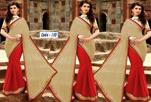 Weight Less Georgette saree Hp-110