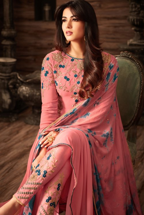 un-stitched georgette with embroidery salwar kameez maisha-4808
