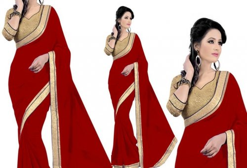 Weight Less Georgette saree SS-79