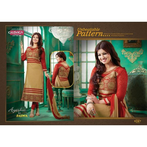 Unstiched block printed cotton replica salwar kameez seblock-8015