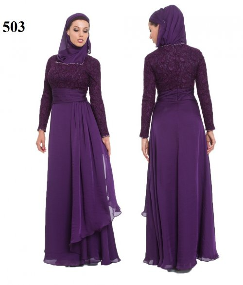 Fashionable muslim dress islamic clothing Rabaah Abaya Burka borka 503