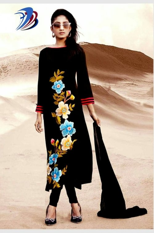 unstitched block printed cotton replica salwar kameez seblock-608