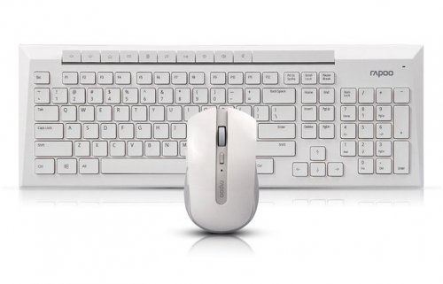 Rapoo 8200P White Wireless Keyboard-Mouse Set